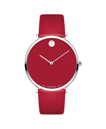 MOVADO Modern 470607250 – Movado.com EXCLUSIVE 40mm strap watch - Front view