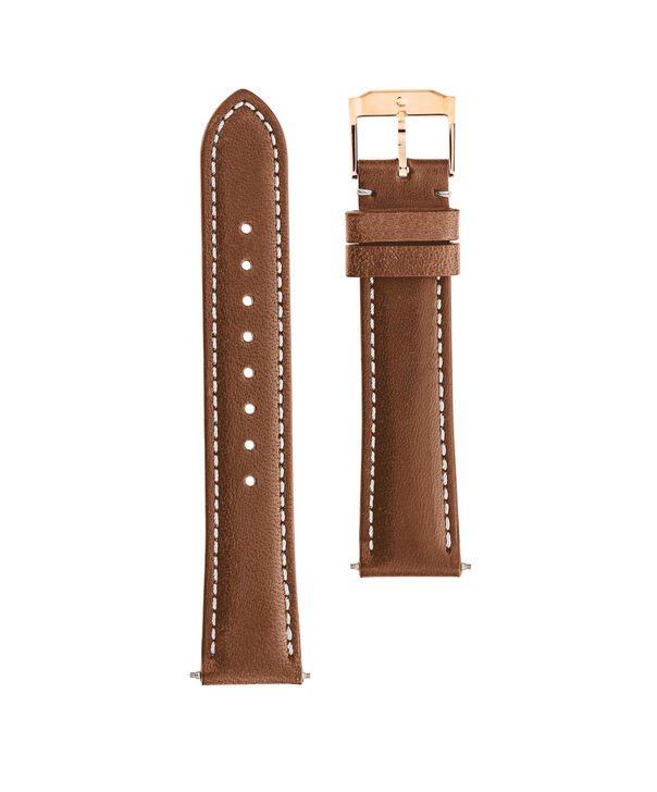 MOVADO Movado Watch Straps769301017 – 18mm cognac leather/RG strap - Front view