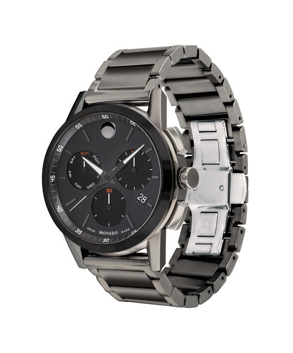 MOVADO Museum Sport0607291 – Men's 43 mm bracelet chronograph - Side view