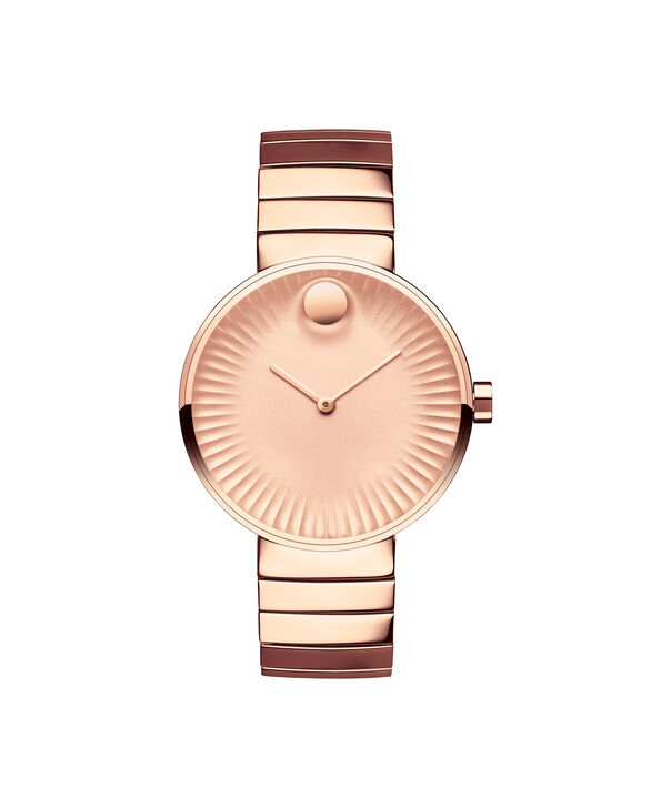 Movado | Movado Edge wommen's mid-size rose gold PVD-finished stainless steel watch with rose gold-toned dial