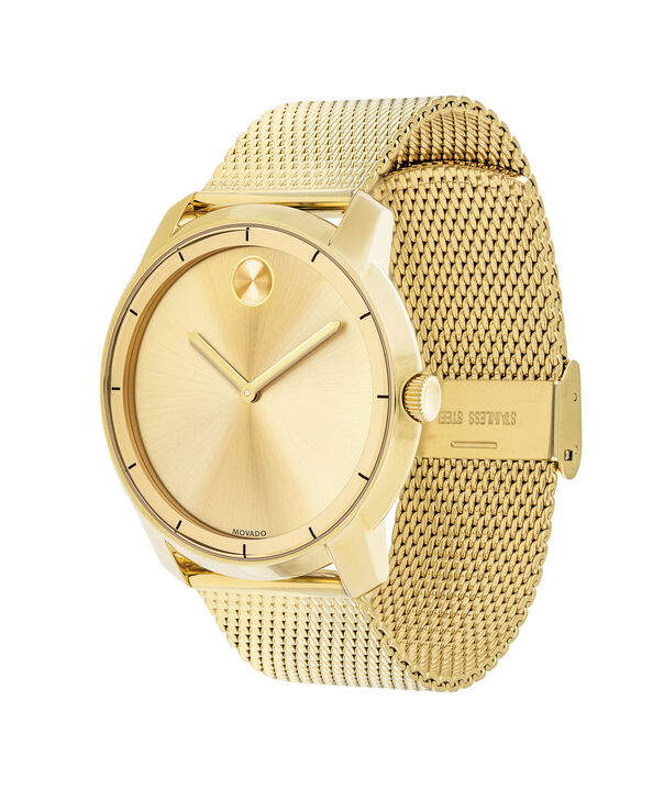 MOVADO Movado BOLD3600373 – 44 mm flat mesh bracelet watch - Side view