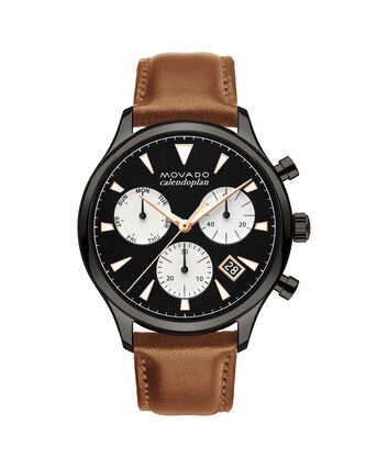MOVADO Movado Heritage Series3650022 – Men's 43 mm strap chronograph - Front view