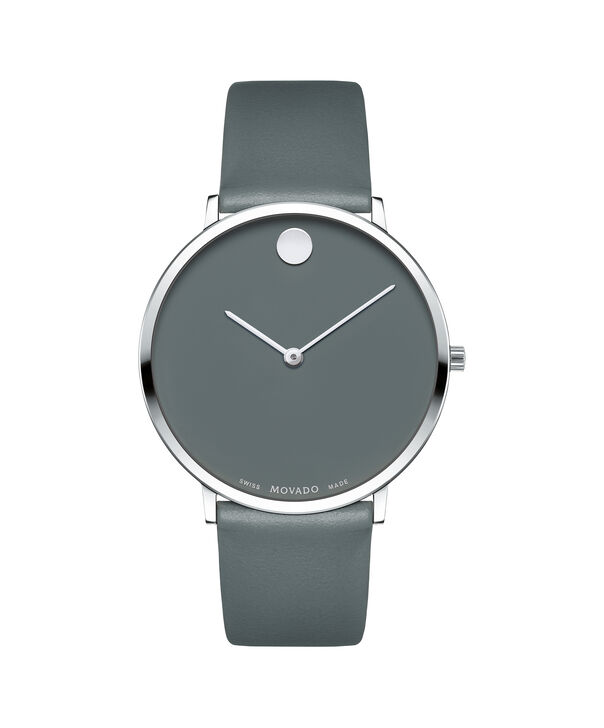 Movado | Movado Ultra Slim Men's Large Ystainless steel watch with Grey dial