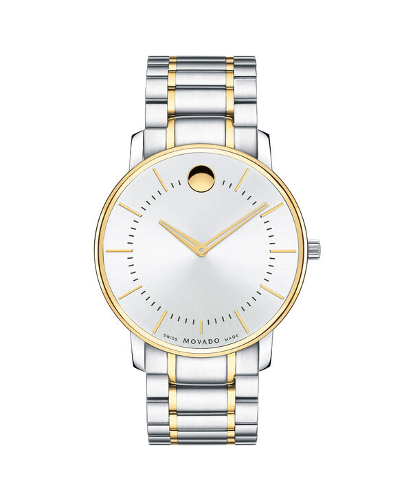 Movado | Movado Men's TC Two-toned Stainless Steel Bracelet Watch with Silver Dial