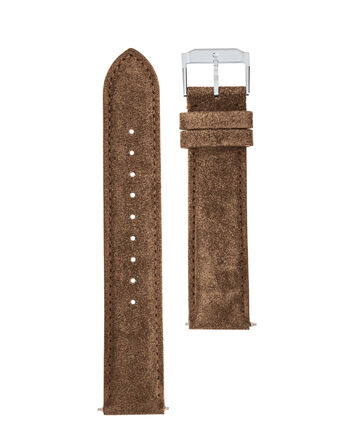 MOVADO Movado Watch Straps769300994 769301010 769301025 – Taupe Suede w/ SS buckle - Front view
