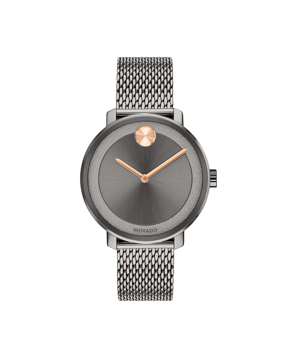 MOVADO BOLD3600581 – 34 mm grey bracelet watch - Front view