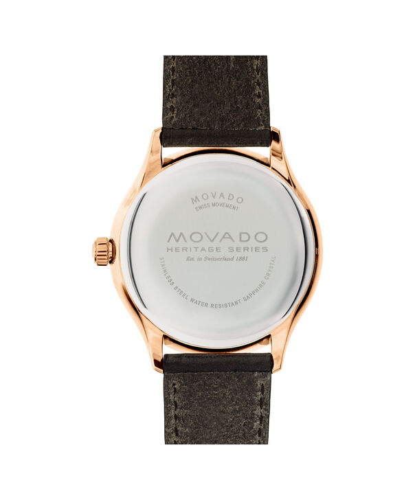 MOVADO Movado Heritage Series3650020 – Men's 42 mm strap watch - Back view