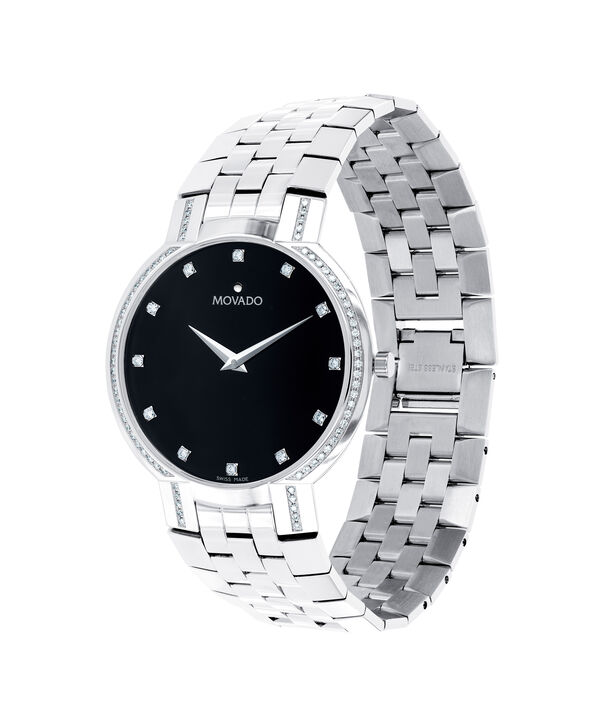 Movado Faceto Men S Stainless Steel Bracelet Watch With