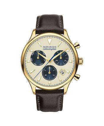 MOVADO Movado Heritage Series3650007 – Men's 43 mm strap chronograph - Front view