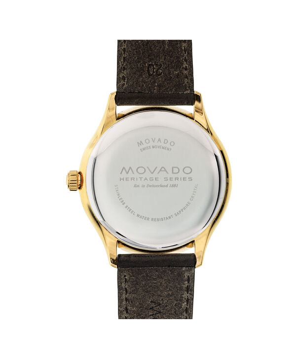 MOVADO Movado Heritage Series3650003 – Men's 40 mm strap watch - Back view