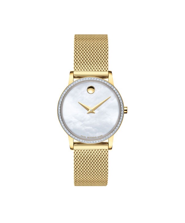 MOVADO Museum Classic0607307 – Women's 28 mm mesh bracelet watch - Front view