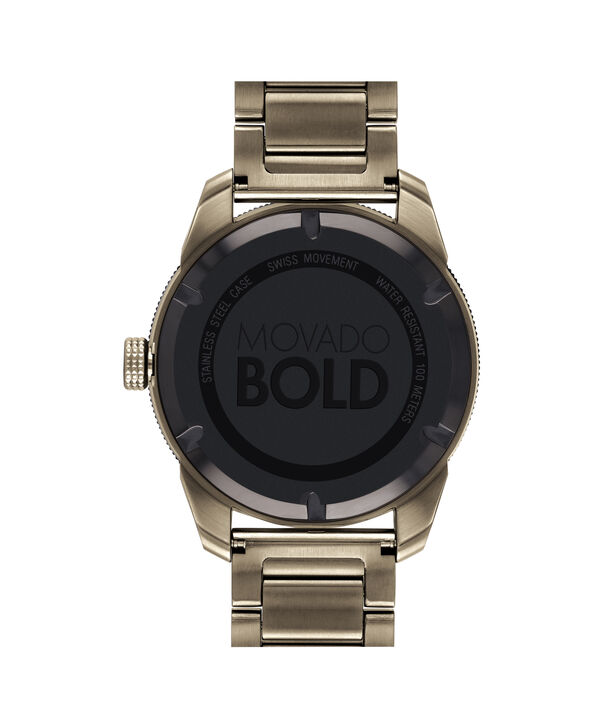 MOVADO Movado BOLD3600511 – 43.5 mm BOLD Sport bracelet watch - Back view
