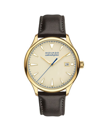 MOVADO Movado Heritage Series3650003 – Men's 40 mm strap watch - Front view