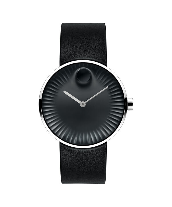 Movado | Movado Edge men's large stainless steel watch with black dial