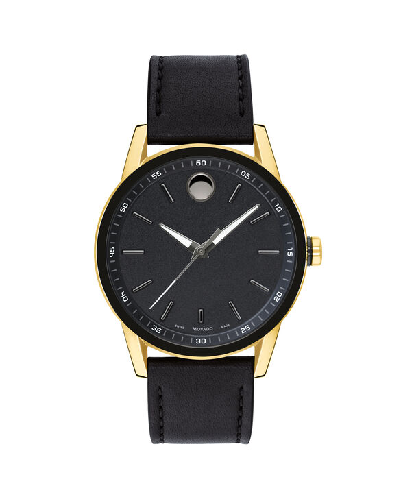 Movado | Museum Men's Black PVD Stainless Steel Watch With Black Strap