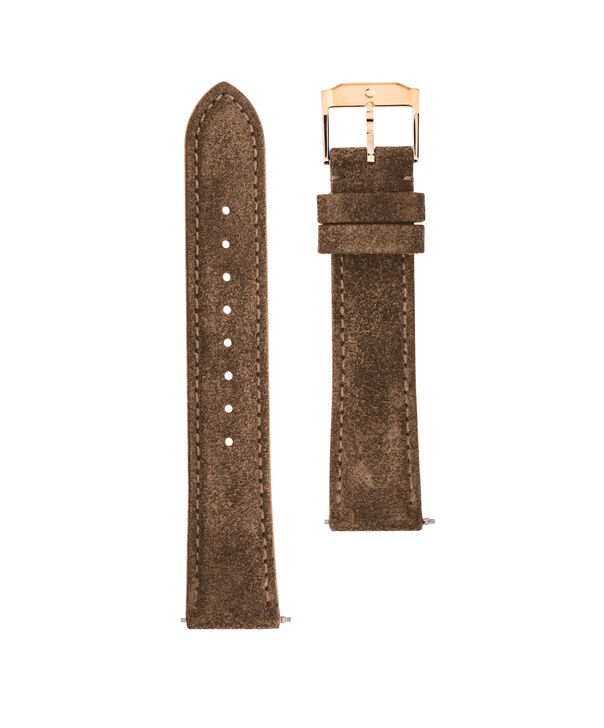 MOVADO Movado Watch Straps769301027 – 18mm taupe suede/RG strap - Front view