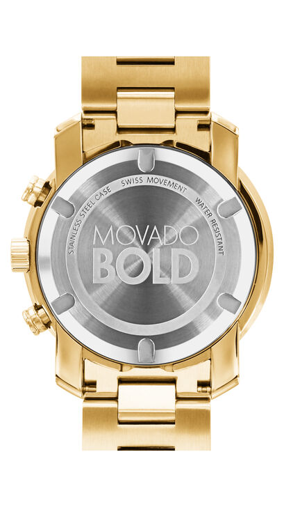 MOVADO Movado BOLD3600278 – 44 mm Metals bracelet chronograph - Back view