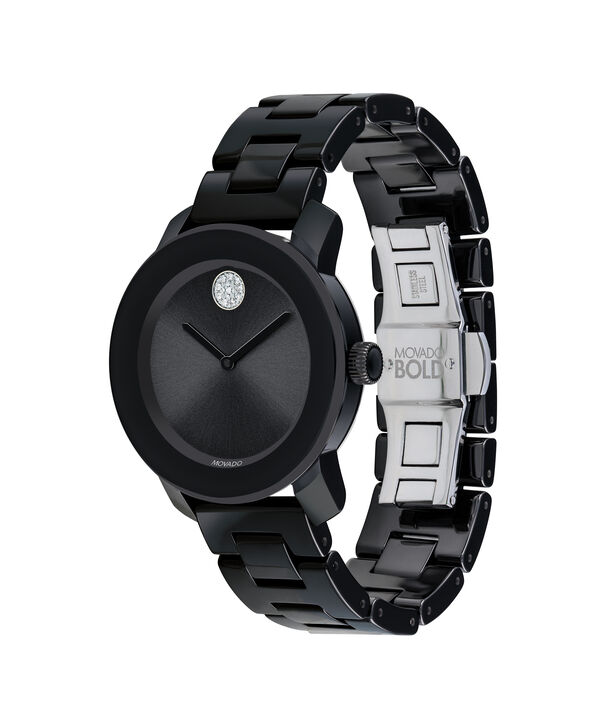 MOVADO Movado BOLD3600535 – 36 mm ceramic bracelet watch - Side view