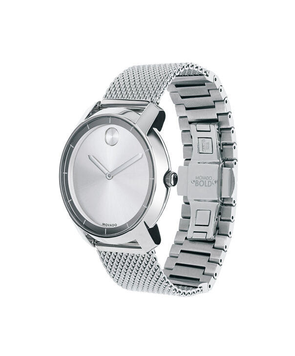 MOVADO Movado BOLD3600241 – 36 mm flat mesh bracelet watch - Side view