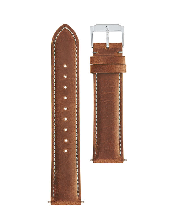 MOVADO Movado Watch Straps769300900 769301000 769301016 – Cognac Leather Strap w/ SS buckle - Front view
