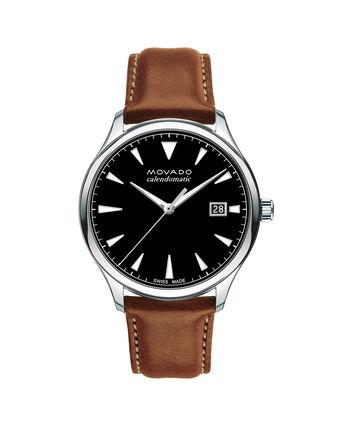 MOVADO Movado Heritage Series3650055 – Men's 40 mm strap watch - Front view