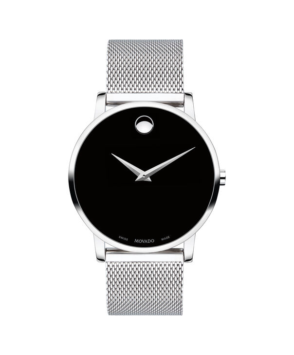 Movado | Museum Classic Men's Stainless Steel Mesh Bracelet Watch With Black Dial
