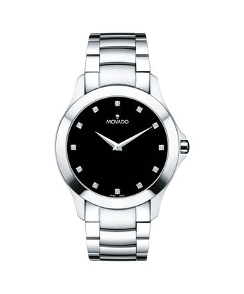 MOVADO Masino0607036 – Men's 40 mm bracelet watch - Front view