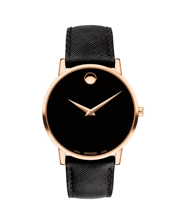 afaf23dc134a8 MOVADO Museum Classic0607196 – Men s 40 mm strap watch - Front ...