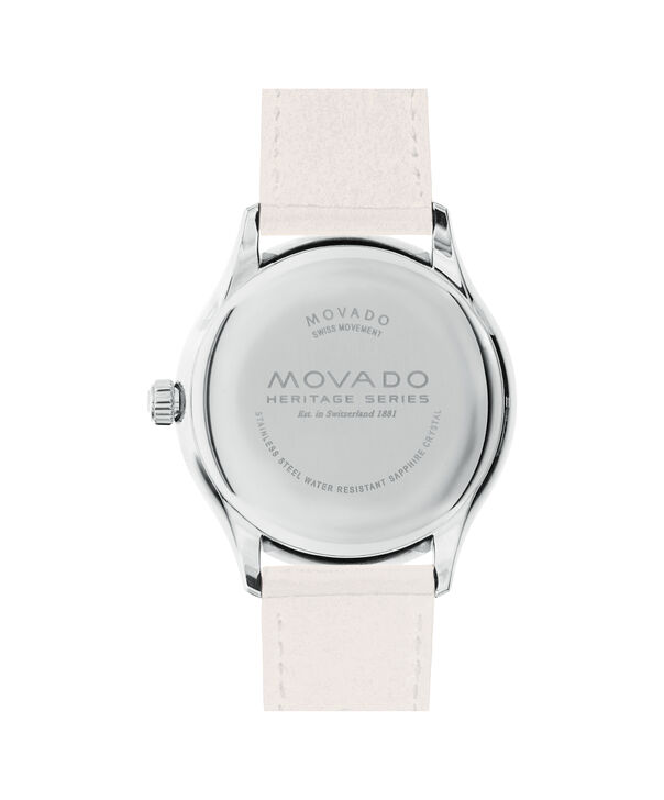 MOVADO Movado Heritage Series3650063 – Men's 40 mm strap watch - Back view
