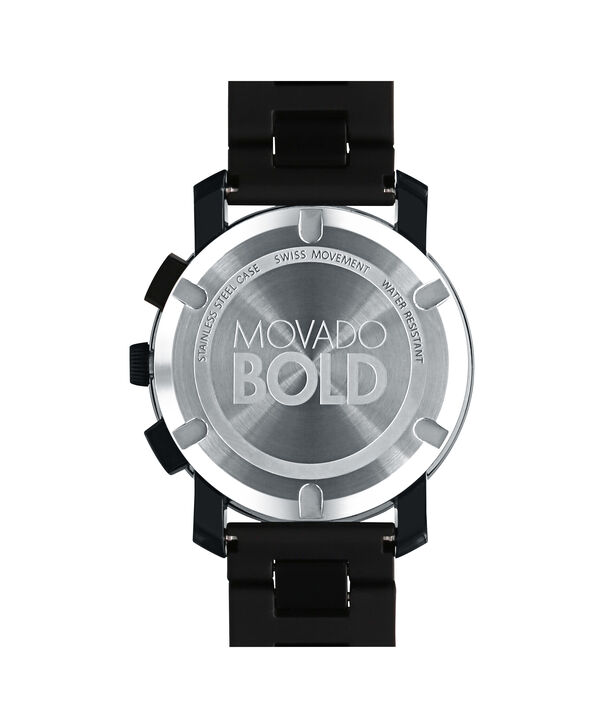 MOVADO Movado BOLD3600048 – 43.5 mm TR90 bracelet chronograph - Back view