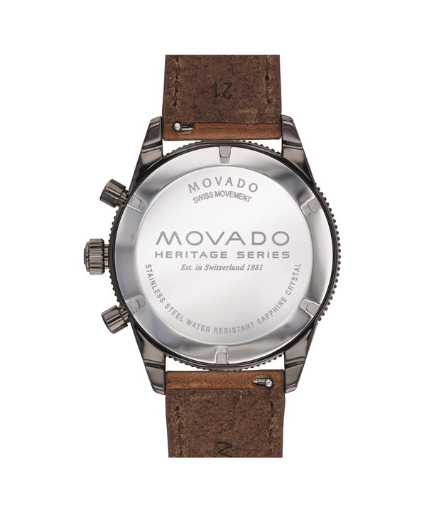 MOVADO Movado Heritage Series3650060 – 42 mm strap chronograph - Back view