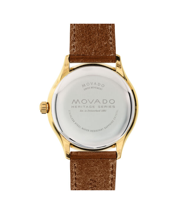 MOVADO Movado Heritage Series3650028 – Men's 40 mm strap watch - Back view