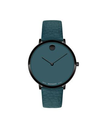 MOVADO Modern 470607342 – 35 mm Modern 47 on Textured Strap - Front view