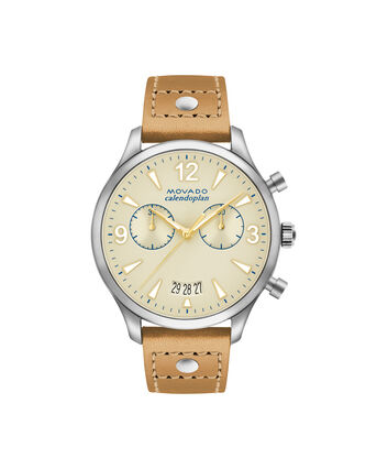 MOVADO Movado Heritage Series3650027 – Women's 38 mm strap chronograph - Front view