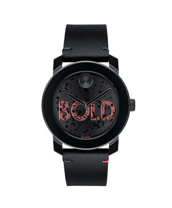 MOVADO Movado BOLD3600556 – 42 mm leather strap watch - Front view