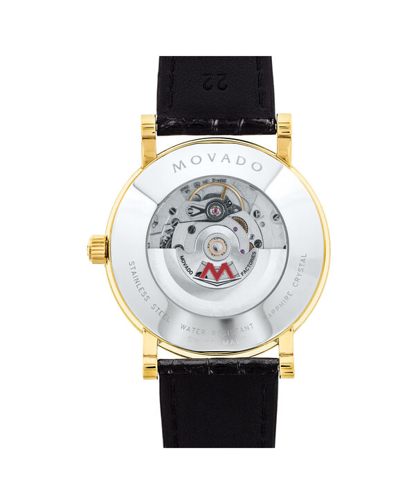 MOVADO Red Label0607007 – Men's 42 mm automatic strap watch - Back view