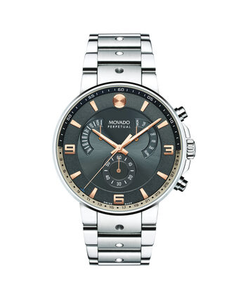 MOVADO SE Pilot0607130 – Men's 42 mm bracelet chronograph - Front view