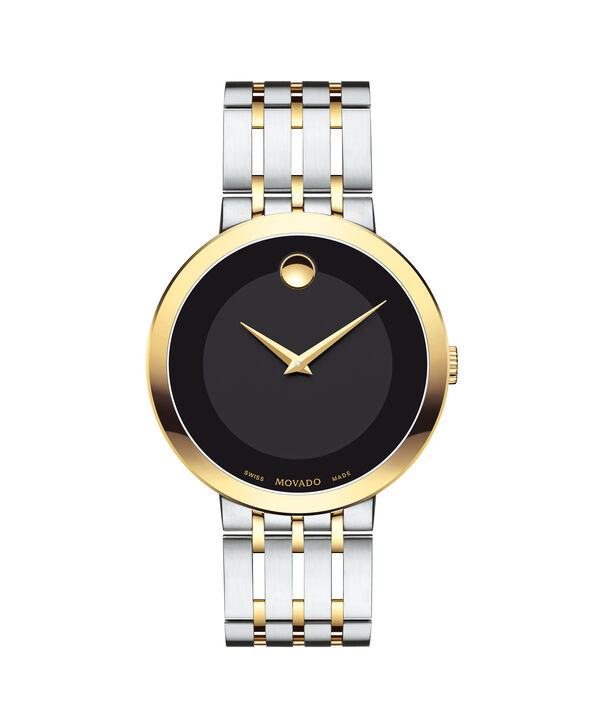 Movado | Esperanza Men's Two Toned Watch with Black Dial