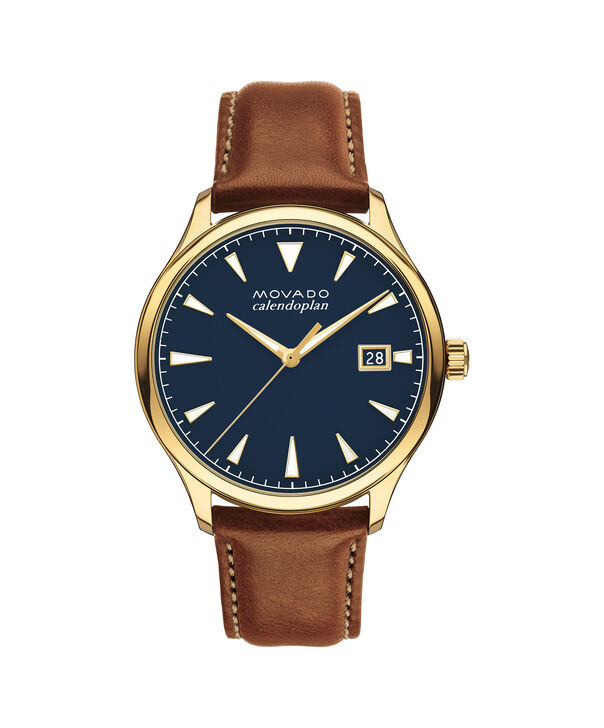 MOVADO Movado Heritage Series3650028 – Men's 40 mm strap watch - Front view