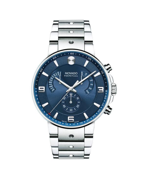 MOVADO SE Pilot0607129 – Men's 42 mm bracelet chronograph - Front view