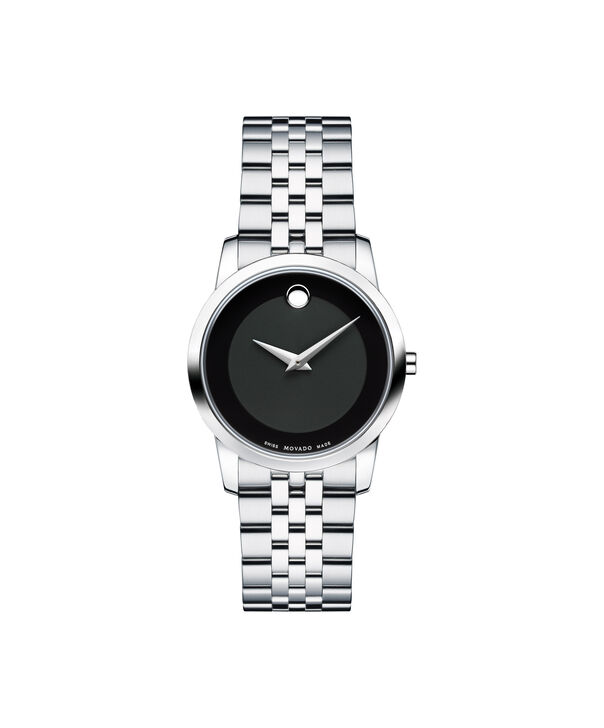 Movado | Museum Women's Stainless Steel Bracelet Watch With Black Dial