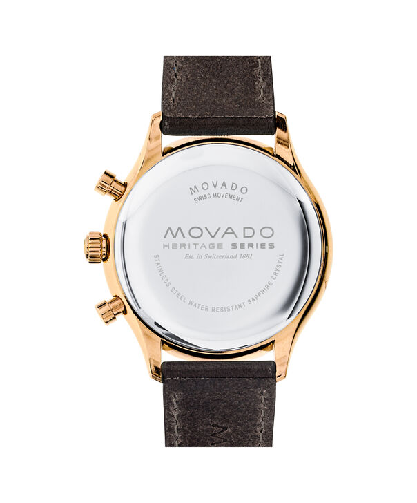 MOVADO Movado Heritage Series3650021 – Men's 43 mm strap chronograph - Back view