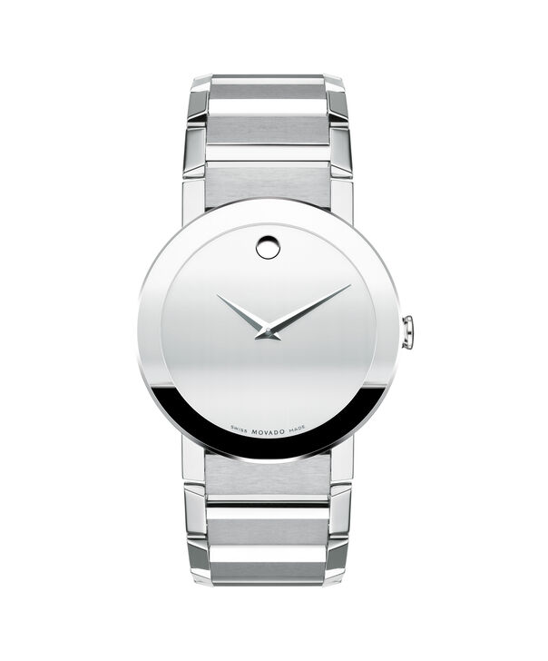 Movado | Sapphire Men's Stainless Steel Watch With Silver Dial