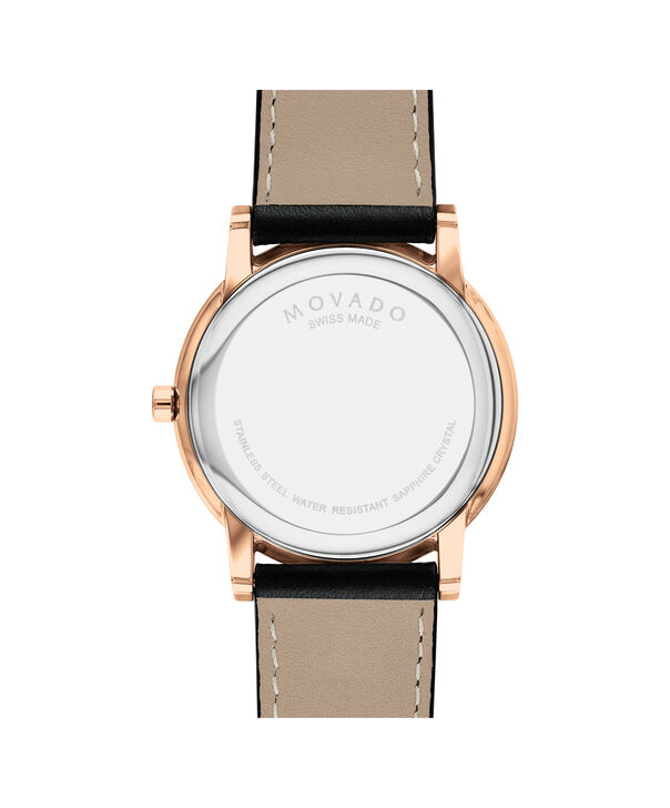MOVADO Museum Classic0607272 – Men's 40 mm strap watch - Back view