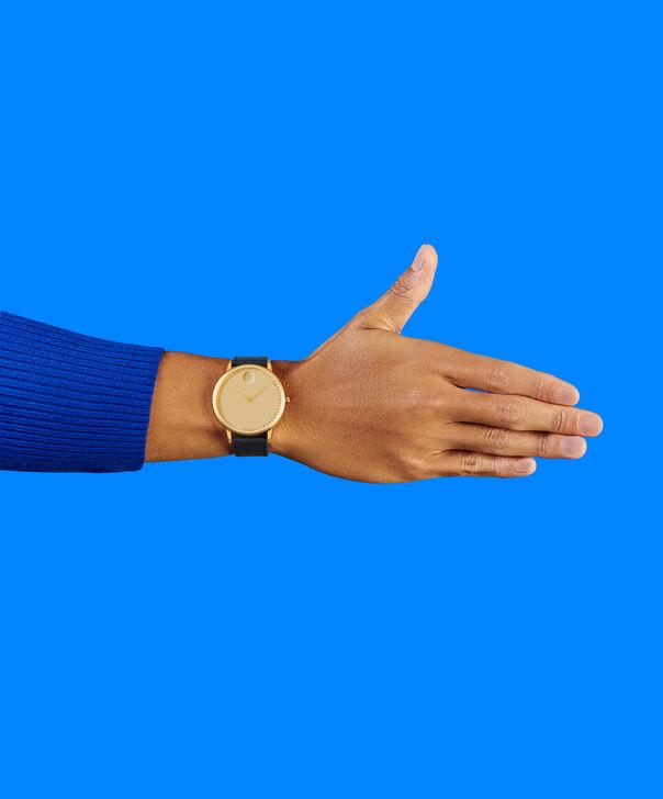 MOVADO Movado Face3640005 – Men's 41 mm strap watch - Back view