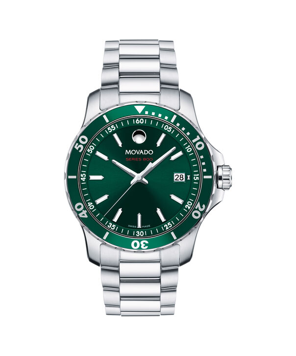 Movado | Series 800 Men's Stainless Steel Watch With Green Dial