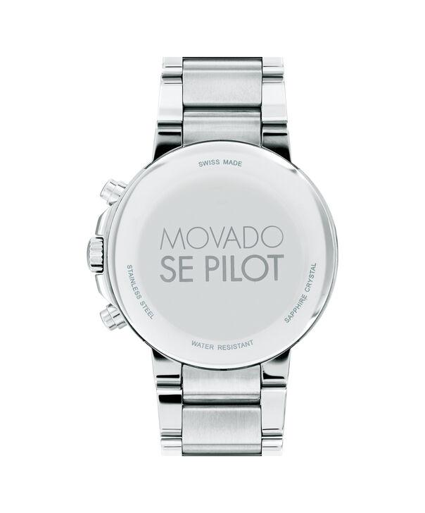 MOVADO SE Pilot0607129 – Men's 42 mm bracelet chronograph - Back view