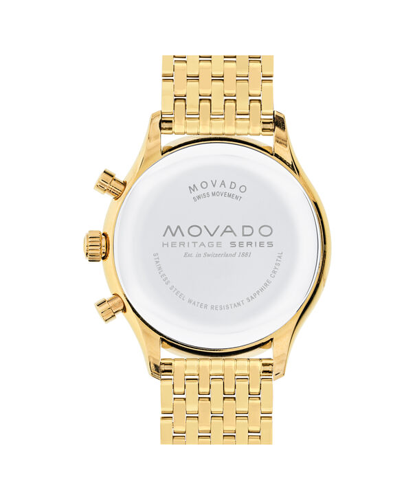 MOVADO Movado Heritage Series3650015 – Men's 43 mm bracelet chronograph - Back view