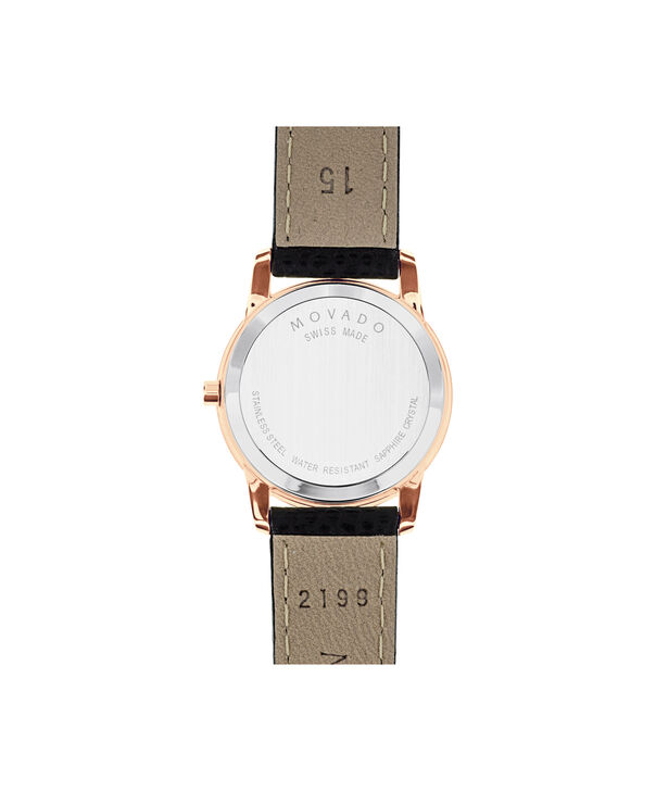 MOVADO Museum Classic0607061 – Women's 28 mm strap watch - Back view