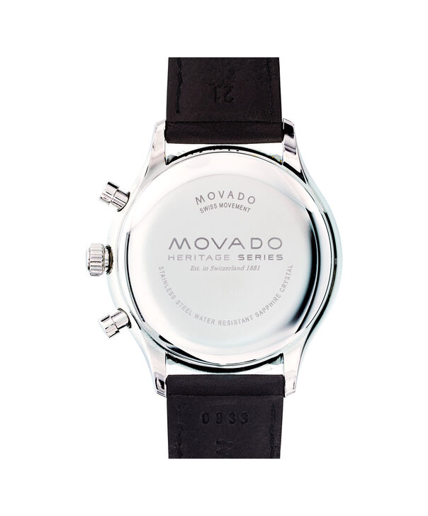 MOVADO Movado Heritage Series3650005 – Men's 43 mm strap chronograph - Back view